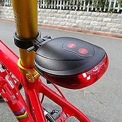 Gadget Guru Bicycle tail lamp 2 Laser Beam and 5 LED Rear Tail Light Safety Rear Warning Lights