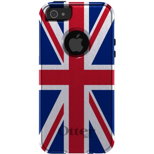 Best Price CUSTOM OtterBox Commuter Series Case for iPhone 5 5S - Red, White & Blue Union Jack Flag