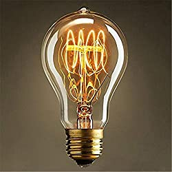 5er E27 40W 220V A19(23 Anchors) Edison Lampe Warmweiß Vintage Stil Edison Glühbirne Retro Licht Vintage Bulb Antik