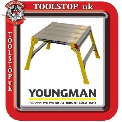 Youngman Odd Job GRP 600 Fibreglass Hop Step Up Work Platform Step ladder Large