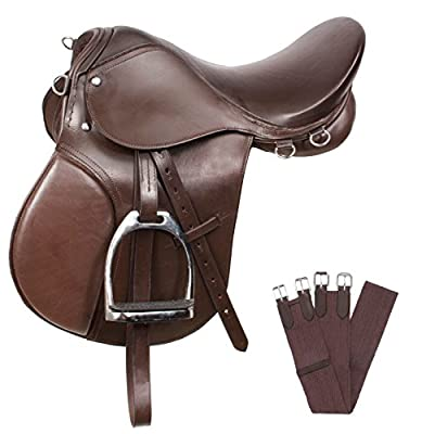 New Brown All Purpose English Riding Horse Saddle