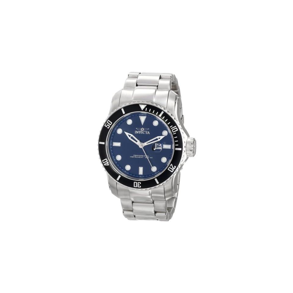 Invicta Mens 15075 Pro Diver Analog Display Japanese Quartz Silver Watch
