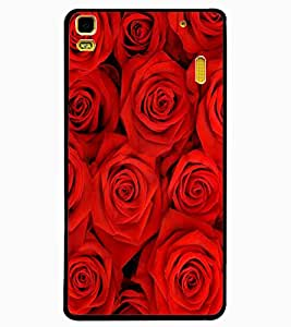 ColourCraft Beautiful Roses Design Back Case Cover for LENOVO A7000 PLUS