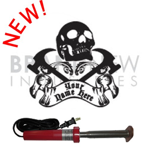 Branding Iron - Electric Unit Bn-502U Personalized Skull And Cross Hammers Design