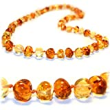 Certified Baltic Amber Teething Necklace for Baby (1x1) - Anti-inflammatory