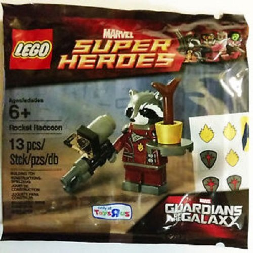 Lego, Guardians of the Galaxy, Exclusive Rocket Raccoon Figure (Bagged)