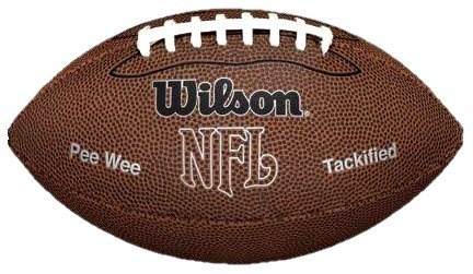Wilson NFL MVP Pee Wee Football, Brown (Child Football compare prices)