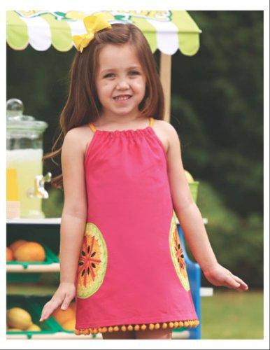 Mud Pie Little Girls' Tutti Frutti Dress, Pink, 2T front-545104