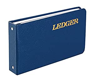 Wilson Jones Ring Ledger Outfit, Bookkeeping System with Ring Binder, Ledger Sheets, and A-Z Indexes (W0203-58BLA)