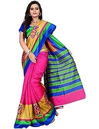 Fab Desire Women's Silk Saree (Silk_310_Saree_Multi-Coloured_Free Size)