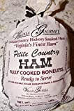 Virginia Hickory Smoked Country Ham - Virginia's Finest Cooked Boneless Traditional Southern Hickory Smoked & Cured Virginia Gourmet Ham - 3 lbs Petite Ham Already Cooked, Dry Cured, De-boned, Trimmed & Ready to Serve. Fresh from the Farm from our Local Curemaster. (serves 20-30 people)