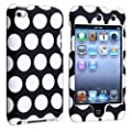 eForCity� Snap-on Case compatible with Apple� iPod touch� 4th Generation, Black with White Dot