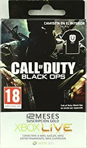 Tarjeta Suscripción 12 meses Xbox LIVE Gold Black Ops