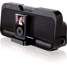 iLive IS208B Stereo Speaker System with iPod Dock (Black)