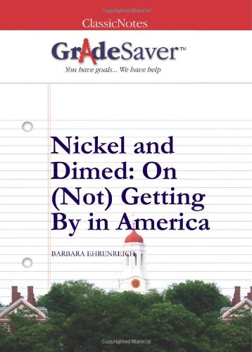 nickel and dimed essay papers  turning out about four articles – essays, reported pieces, reviews – a month at   became a bestseller, nickel and dimed: on (not) getting by in america  a  newspaper or book and reading or picking up a pen and paper.