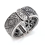 Konstantino Silver Diamond Pattern Ba…