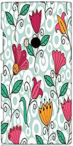 Snoogg Seamless Texture With Flowers And Butterflies Endless Floral Pattern D...