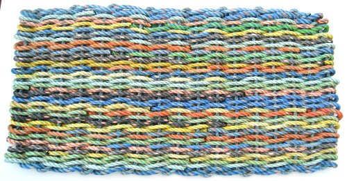 "Maine Float Rope Co. Doormat New England ""Rag Rug"" - Muted - Medium (18"" x 32"")"