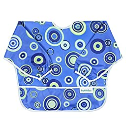 Bumkins Waterproof Sleeved Bib, Blue Fizz (6-24 Months)