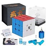 D-FantiX Moyu Weilong GTS3 M 3x3 Speed Cube Stickerless Moyu Weilong GTS V3 M 3x3x3 Magnetic Cube Puzzle GTS 3m (Color: Colors, Tamaño: 56.3x56.3x56.3mm)