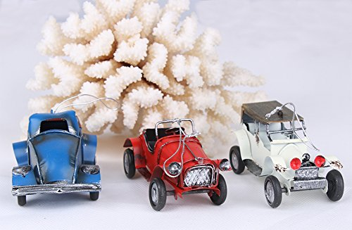 PDXD-share Set of 9 Retro Cars Models Mini Handmade Art Gifts Hanging Cars Good for Decorations/Christmas