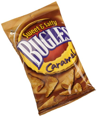 Bugles Corn Snacks, Caramel, 6-Ounce Packages (Pack of 12) by General Mills Salty Snacks