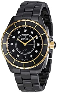 CHANEL J12 QUARTZ H2544 UNISEX BLACK CERAMIC CERAMIC CASE DATE WATCH