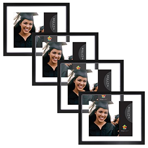 DesignOvation Gallery Wood Picture Frame (Set of 4), Document (Float Photo Frame compare prices)