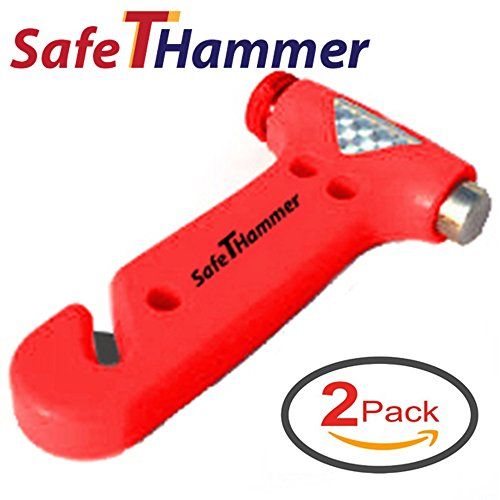 Seat-Belt-Cutter-Window-Breaker-Car-Safety-Hammer-Auto-Emergency-Kit-Tool-by-SafeTHammer-Pack-of-2