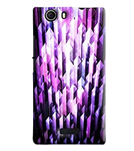 Blue Throat Crystal Effect Printed Designer Back Cover/Case For Micromax Nitro 2 (E311)
