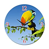 MeSleep Bird Wall Clock With Glass Top