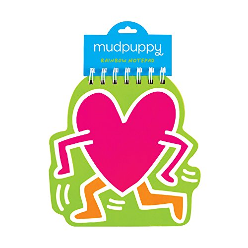Mudpuppy Keith Haring Heart Rainbow Notepad