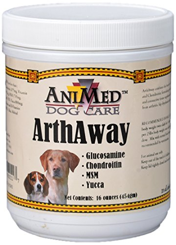 Animed Arthaway Powder Joint Tissue Supplement For Dogs, 16-Ounce
