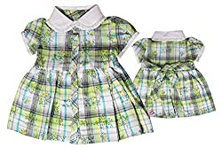 TOFFY HOUSE Green Frock for Kids