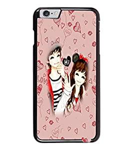 PrintDhaba Couple D-3200 Back Case Cover for APPLE IPHONE 6 (Multi-Coloured)