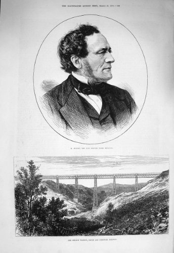 1875 Buffet French Minister Meldon Viaduct Railway