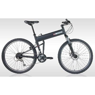 "SwissBike LX Aluminum Folding Mountain Bike (18"" Fram) _Matt Black 518kD4IeaqL._SS400_"