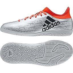 adidas Performance X 16.3 In J Skate Shoe (Little Kid/Big Kid), Silver Metallic/Black/Infrared, 10.5 M US Little Kid