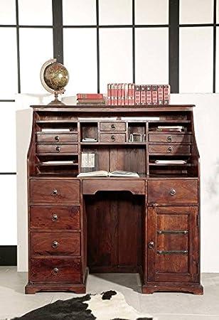 Kolonialstil Sekretär Akazie massiv Möbel OXFORD #516