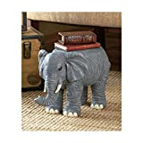 Elephant Decorative Safari Wild Jungle African Animal Plant Stand or Book Holder Home Accent Decoration Living Room Library Indoor Patio Porch Decor