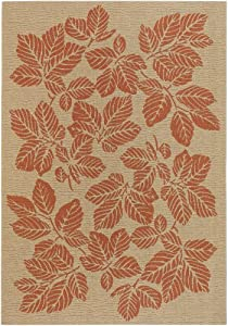 Couristan 3079/0011 Five Seasons Rio Mar 2-Feet 3-Inch by 7-Feet 10-Inch Rug, Cream and Terra Cotta (Discontinued by Manufacturer)