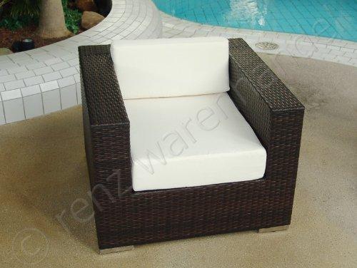 Sessel Polyrattan schwarz inkl. Polster – Serie Modena kaufen