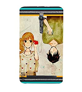 Omnam Beautiful Conversation Going On Between Boy And Girl Effect Designer Back Cover Case For Asus Zenfone 2