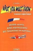 What you must know : Vocabulaire Anglais-Français