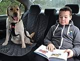 tierlando® Autoschondecke, Autoschutzdecke, Hundedecke, mit Reißverschluß teilbar, 200 x 140 cm, Graphit - SMR-200-02