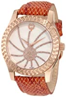 Brillier Women's 03-32424-09 Kalypso Rose-Tone Copper Snakeskin Watch from Brillier