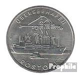 DDR (RDA) Jägernr: 1619 1988 Un Neusilber 1988 5 marcos puerto Rostock (monedas para los coleccionistas)