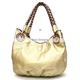 Classic Catch-all Handbag/Hobo with Braided Handles - 2 Colors Available - Free Shipping