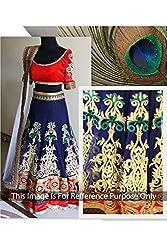 Designer BLUE VELVET,GEORGETTE Bollywood Replica Lehenga Choli