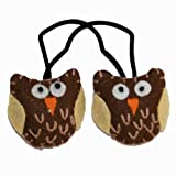 Girls Plush Felt Hair Band. Owl Ponytail Holder. Bijeaux Hair Accessories.
